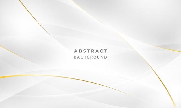 Abstracte grijze en gouden achtergrond poster met dynamische golven. technologie netwerk illustratie. Premium Vector