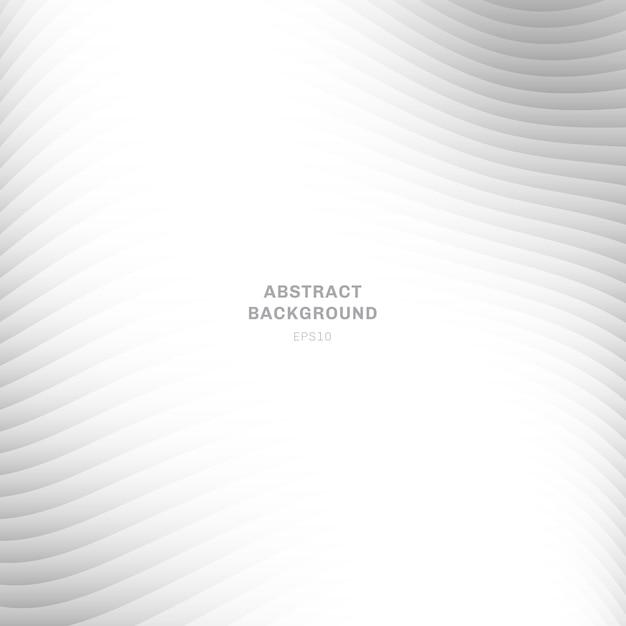 Abstracte grijze golf curve gestreepte achtergrond Premium Vector