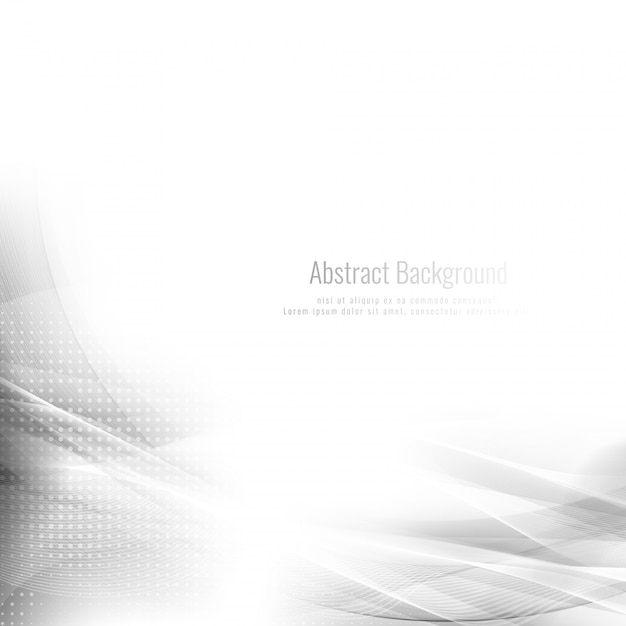 Abstracte grijze golf modieuze achtergrond Gratis Vector