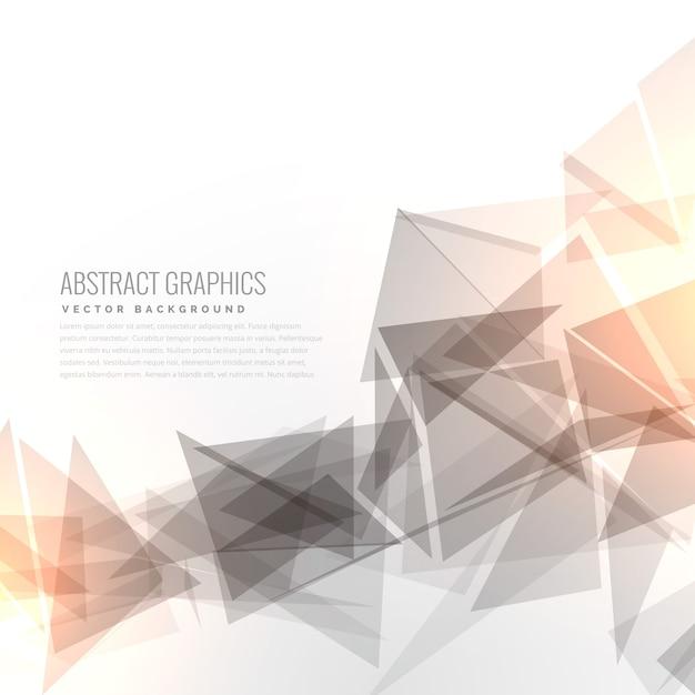 Abstracte grijze grometric driehoeken vorm met lichteffect Gratis Vector