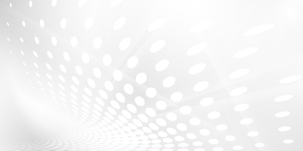 Abstracte grijze witte achtergrond met dynamische golven. technologie Premium Vector