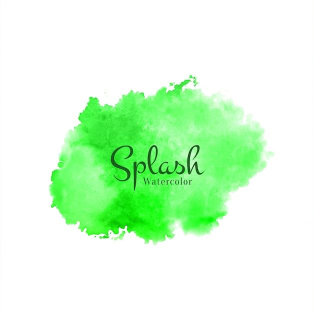 Abstracte groene aquarel splash achtergrond Gratis Vector