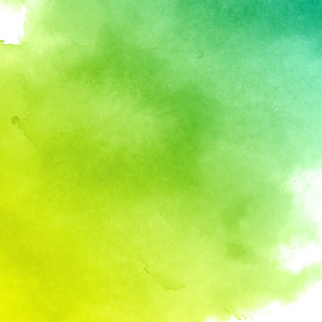Abstracte groene aquarel textuur achtergrond Gratis Vector