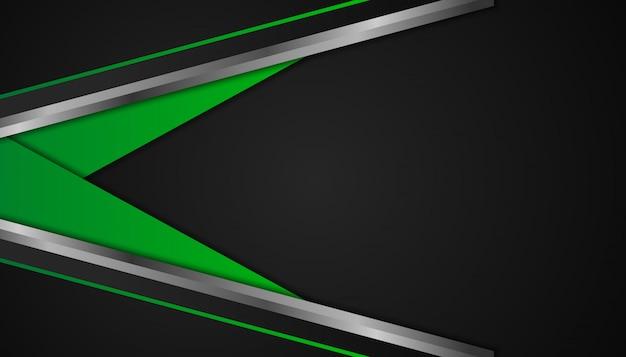 Abstracte groene geometrische vormen op donkere achtergrond Premium Vector