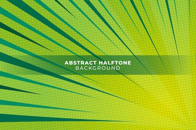 Abstracte groene halftone achtergrond Gratis Vector