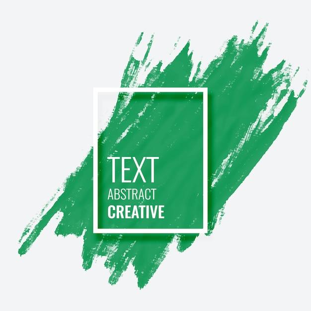 Abstracte groene penseelstreek achtergrond Gratis Vector