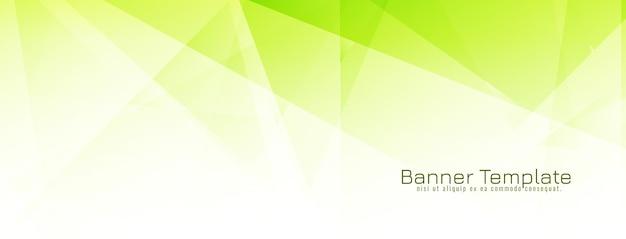 Abstracte groene veelhoekige geometrisch ontwerpbanner Gratis Vector