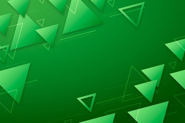 Abstracte groene vormen op groene achtergrond Gratis Vector