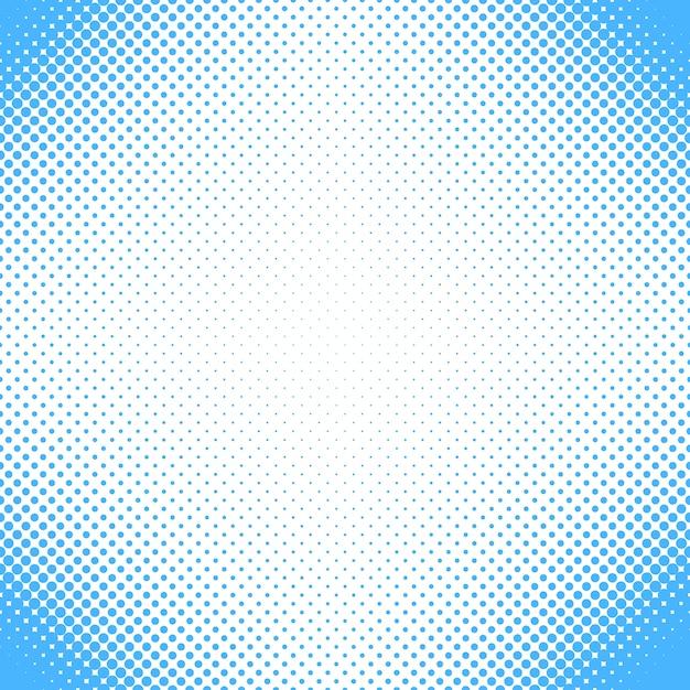 Abstracte halftone punt patroon achtergrond - vector ontwerp uit cirkels in verschillende maten Gratis Vector