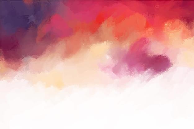 Abstracte handgeschilderde achtergrond Gratis Vector