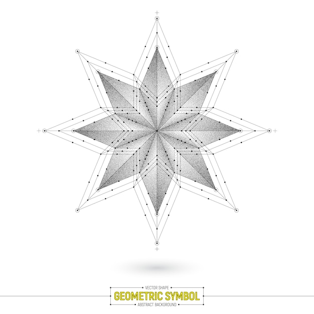 Abstracte heilige symbool vector achtergrond Premium Vector