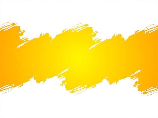 Abstracte helder gele grunge achtergrond Gratis Vector