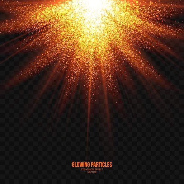 Abstracte heldere explosie effect transparante vector Premium Vector