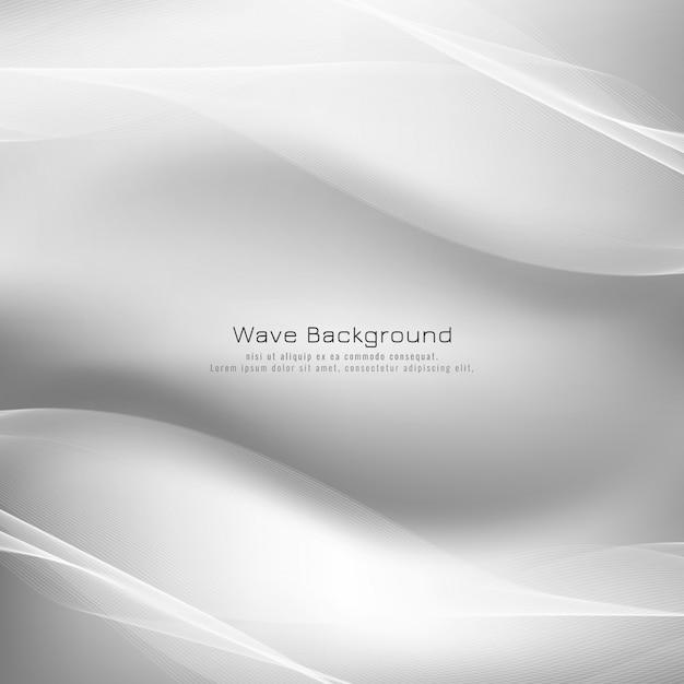Abstracte heldere grijze golf vectorachtergrond Gratis Vector