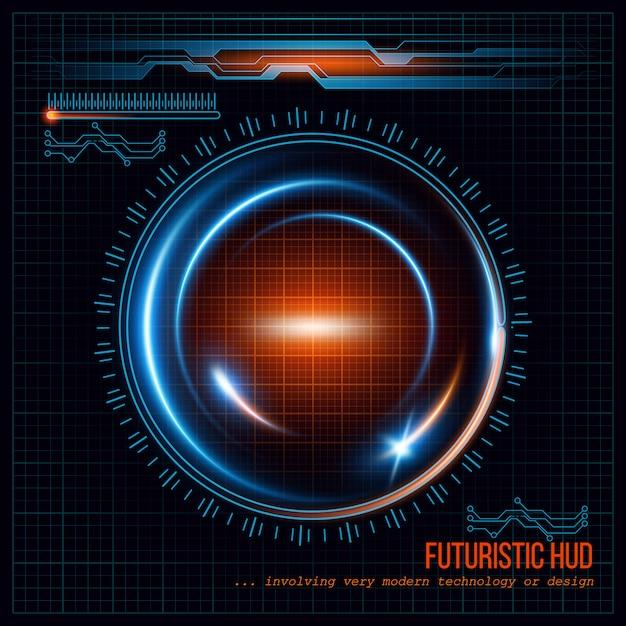 Abstracte hud futuristische achtergrond Premium Vector