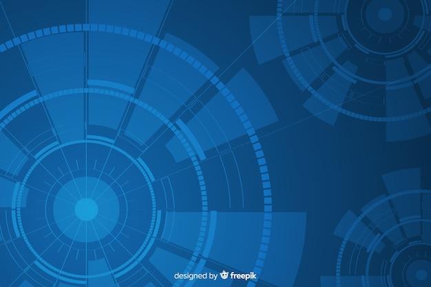 Abstracte hud technische achtergrond Gratis Vector