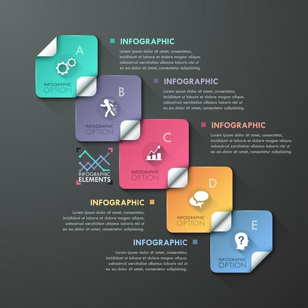 Abstracte infographics sjabloonontwerp Premium Vector