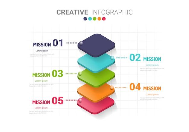 Abstracte infographics. Premium Vector