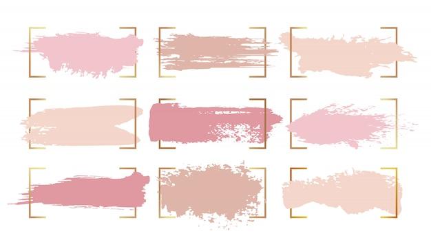 Abstracte inkt verf penseelstreken Gratis Vector