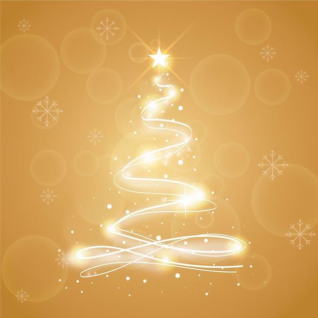Abstracte kerstboom illustratie Gratis Vector