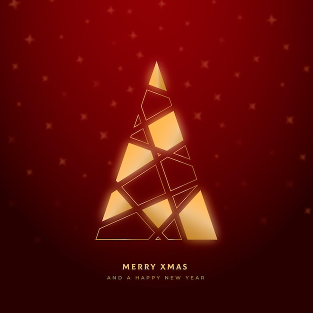 Abstracte kerstboom Premium Vector