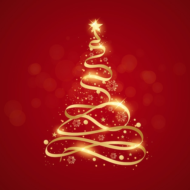 Abstracte kerstboom Gratis Vector