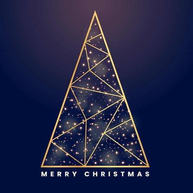 Abstracte kerstboom Premium Vector