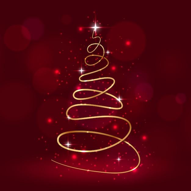 Abstracte kerstboom Gratis Vector