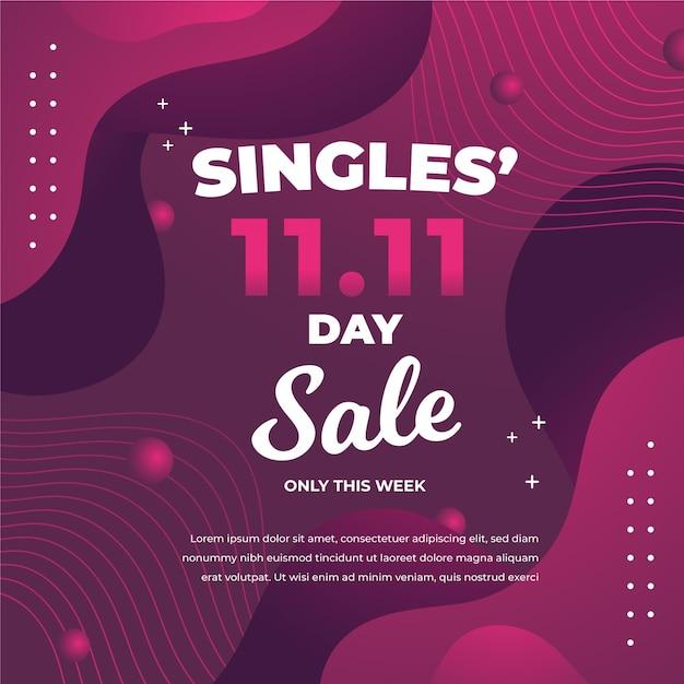 Abstracte kleurovergang singles dag concept Gratis Vector