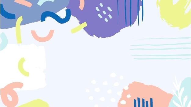 Abstracte kleurrijk geschilderde vlekken achtergrond Gratis Vector