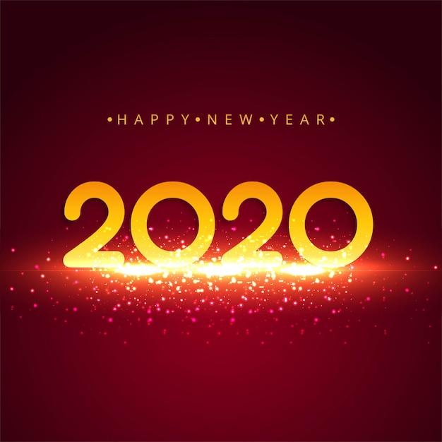 Abstracte kleurrijke 2020 nieuwe jaargroetkaart Gratis Vector