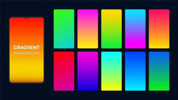 Abstracte kleurrijke achtergrond met kleurovergang Premium Vector
