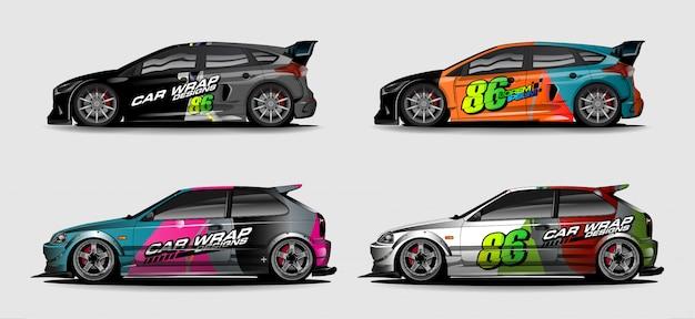 Abstracte kleurrijke achtergrond voor ontwerp van de voertuig het vinylomslag Premium Vector