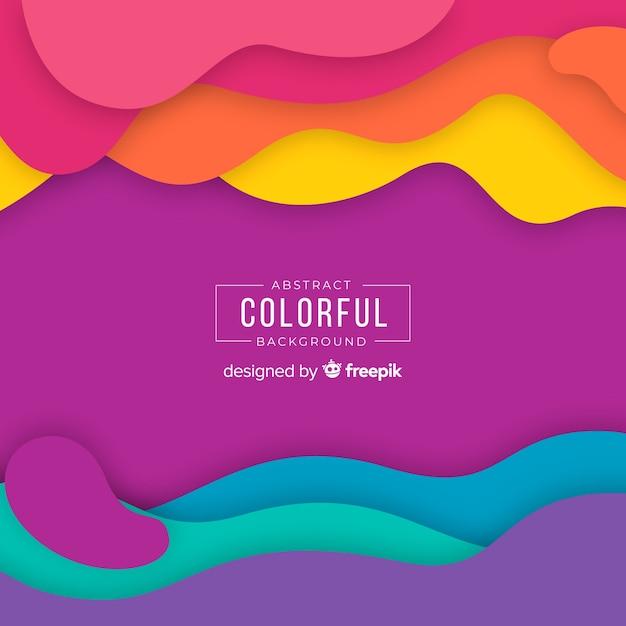 Abstracte kleurrijke achtergrond Gratis Vector