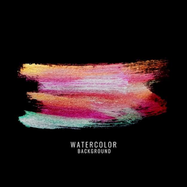 Abstracte kleurrijke aquarel donkere achtergrond Gratis Vector