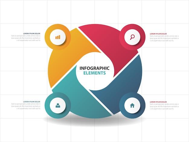 Abstracte kleurrijke bedrijfsinfographicselementen, Premium Vector