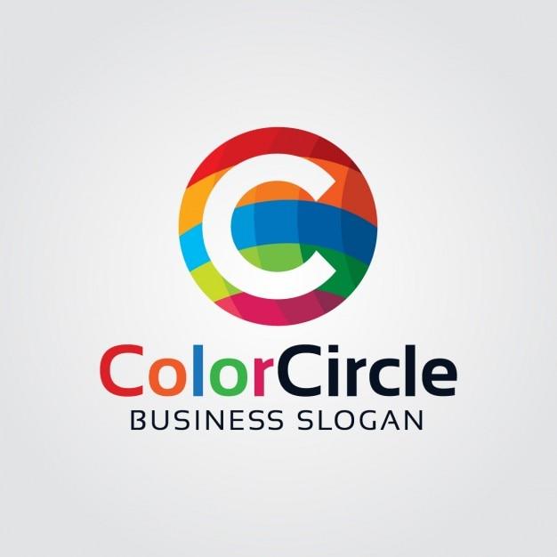 Abstracte kleurrijke brief c logo Gratis Vector