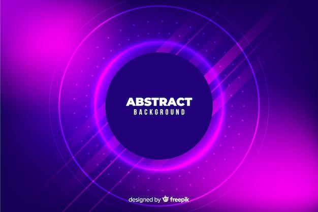 Abstracte kleurrijke cirkels en lijnenachtergrond Gratis Vector