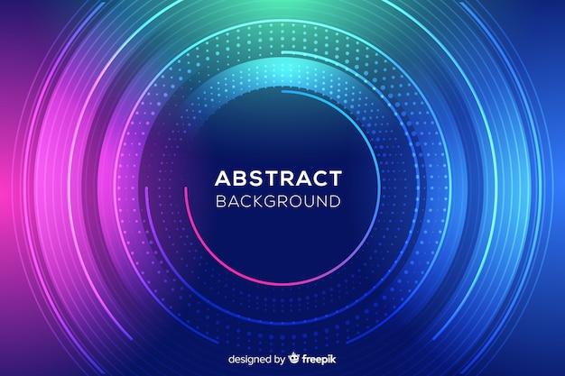 Abstracte kleurrijke cirkels en puntenachtergrond Gratis Vector
