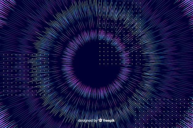 Abstracte kleurrijke cirkelsachtergrond Gratis Vector