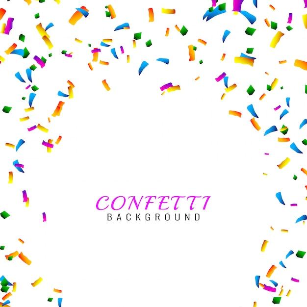Abstracte kleurrijke confetti achtergrond Gratis Vector