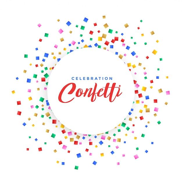 Abstracte kleurrijke confetti frame achtergrond Gratis Vector