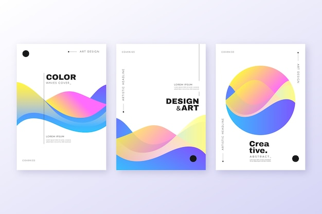Abstracte kleurrijke cover Premium Vector