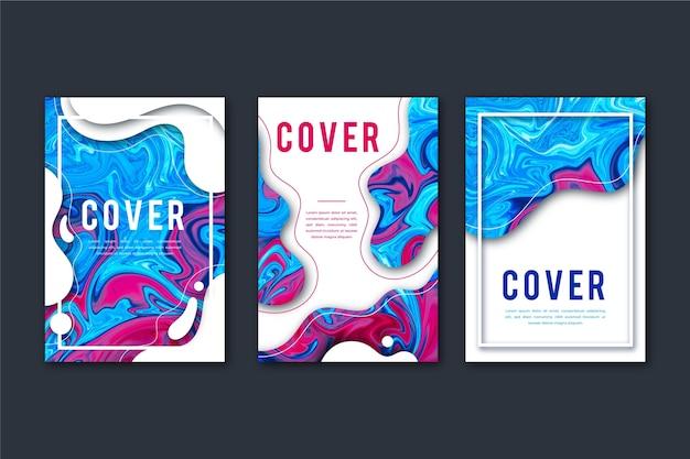 Abstracte kleurrijke covers Gratis Vector