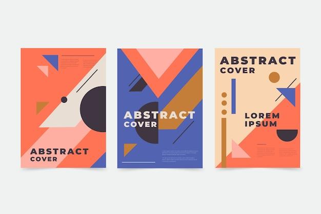 Abstracte kleurrijke covers Premium Vector