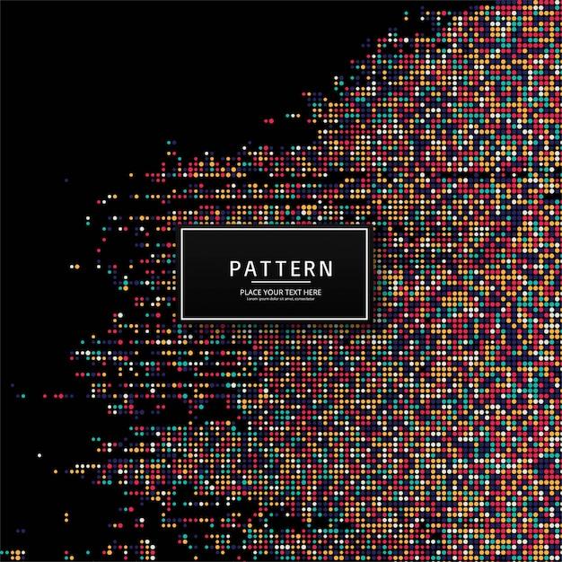 Abstracte kleurrijke gestippelde patroonillustratie als achtergrond Gratis Vector