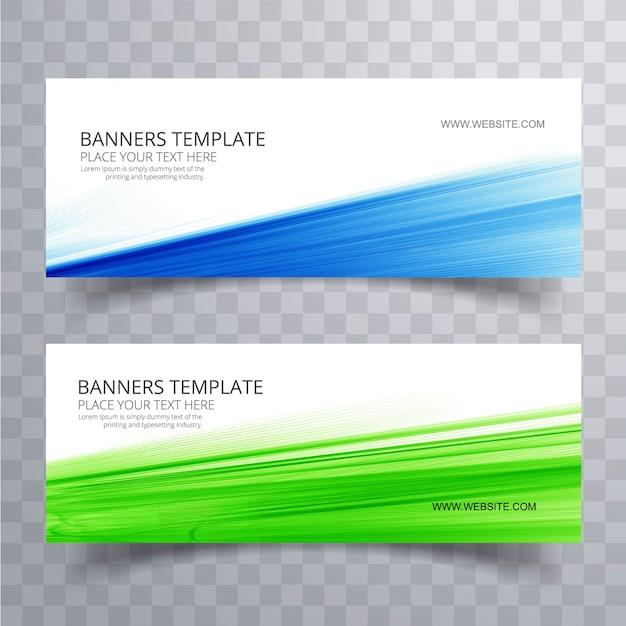Abstracte kleurrijke golvende banners geplaatst ontwerp Gratis Vector
