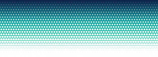 Abstracte kleurrijke halftone patroonbanner Gratis Vector