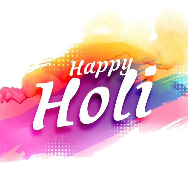 abstracte kleurrijke holi festival achtergrond Gratis Vector