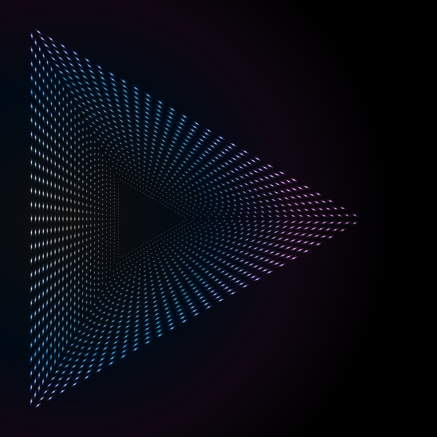 Abstracte kleurrijke neonpunten Premium Vector